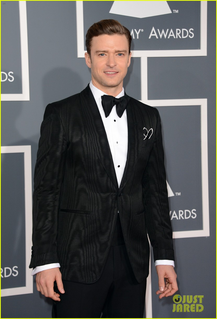 justin timberlake grammys 2013 red carpet 05