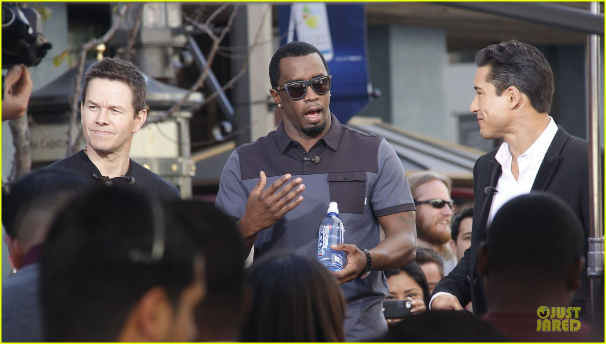 mark wahlberg sean combs aquahydrate press conference 05