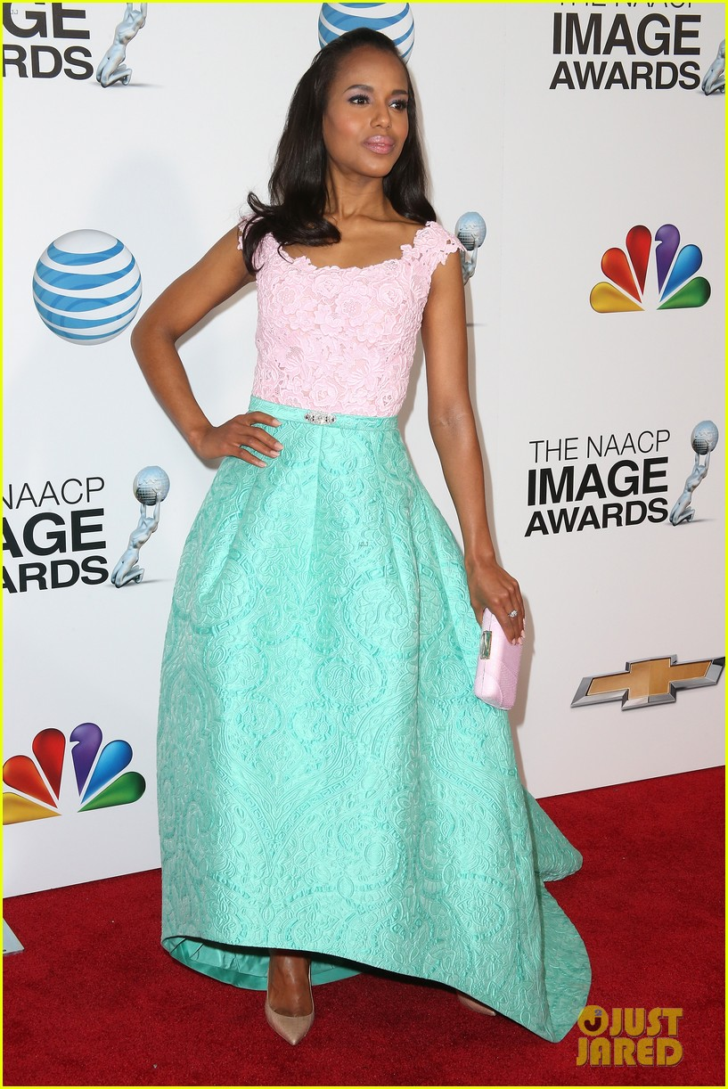 kerry washington naacp image awards 2013 red carpet 012802730