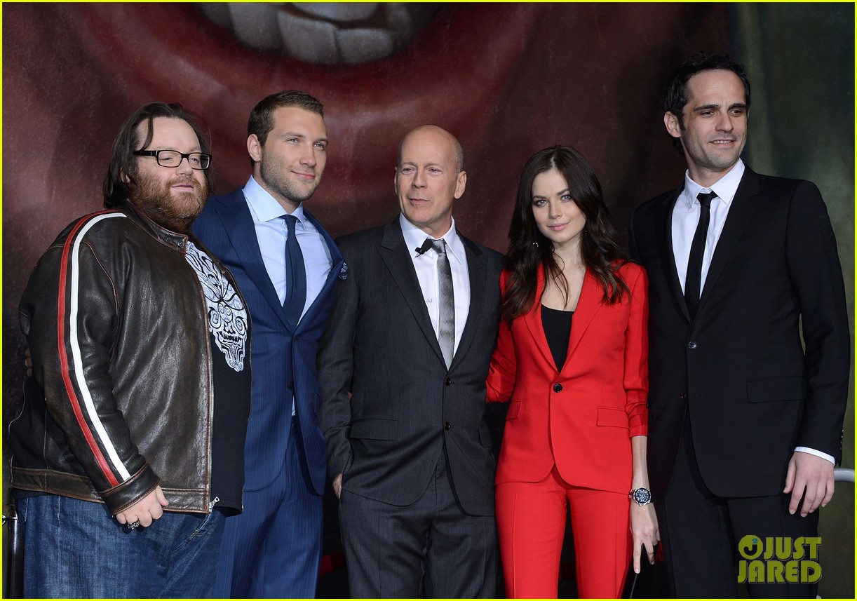 bruce willis die hard mural unveiling with jai courtney 132802476
