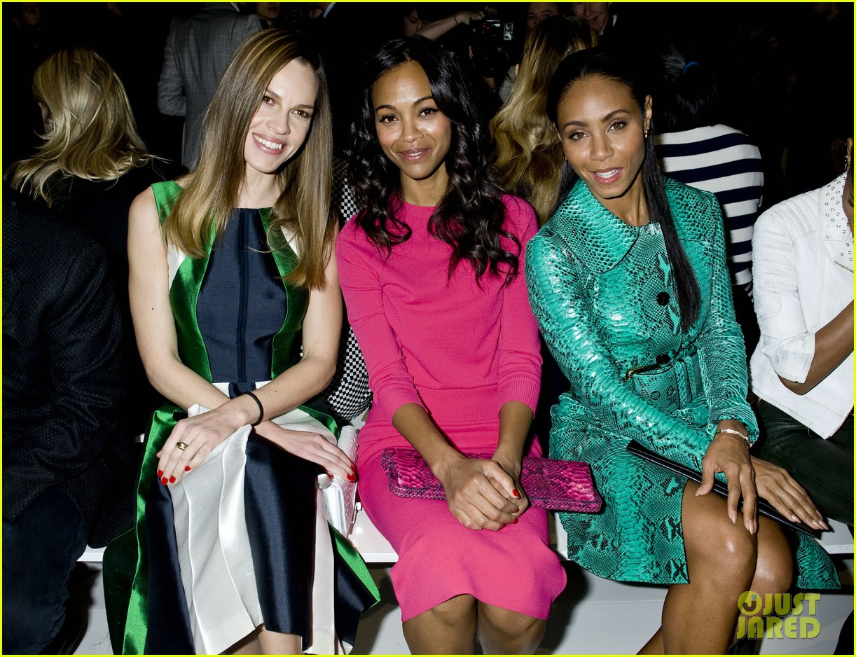 zoe saldana willow jada pinkett smith michael kors show 02