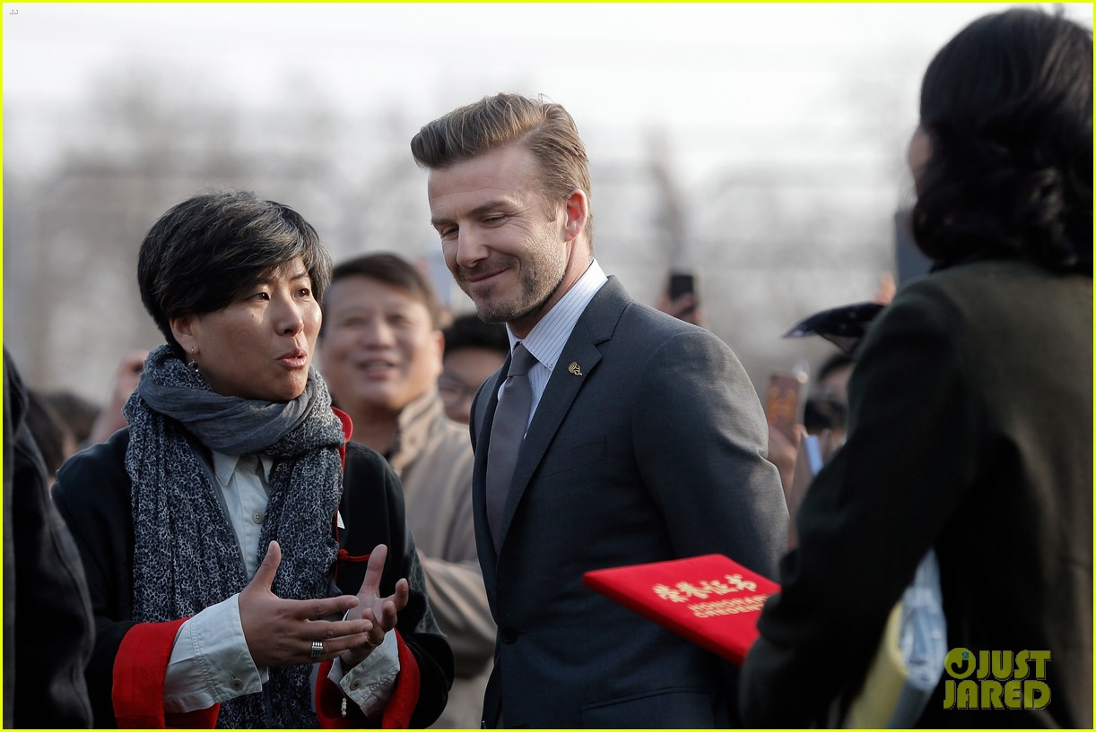 david beckham beijing guoan football club visit 032834932