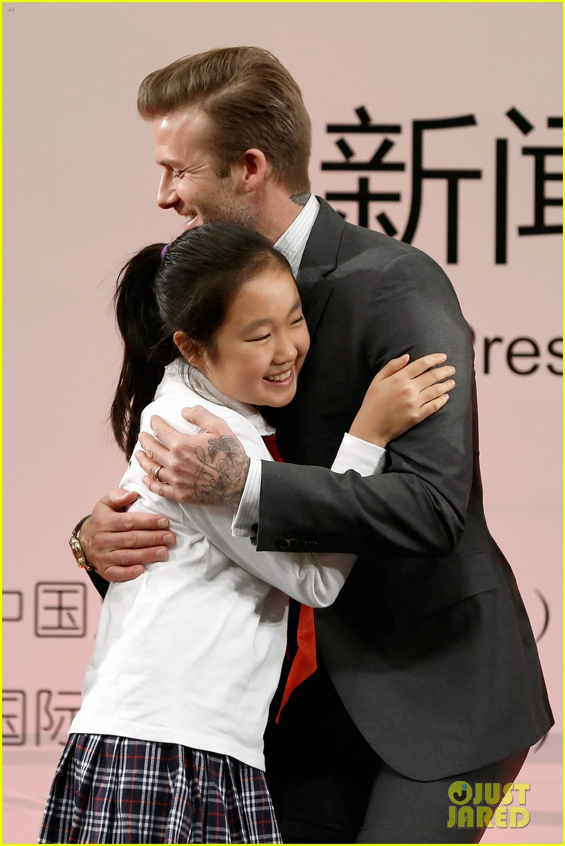 david beckham beijing guoan football club visit 122834941