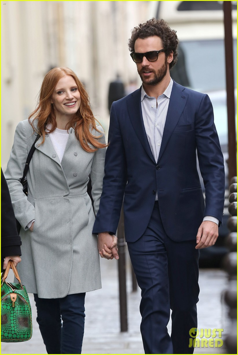 Full Sized Photo of jessica chastain gian luca passi de ... Jessica Chastain