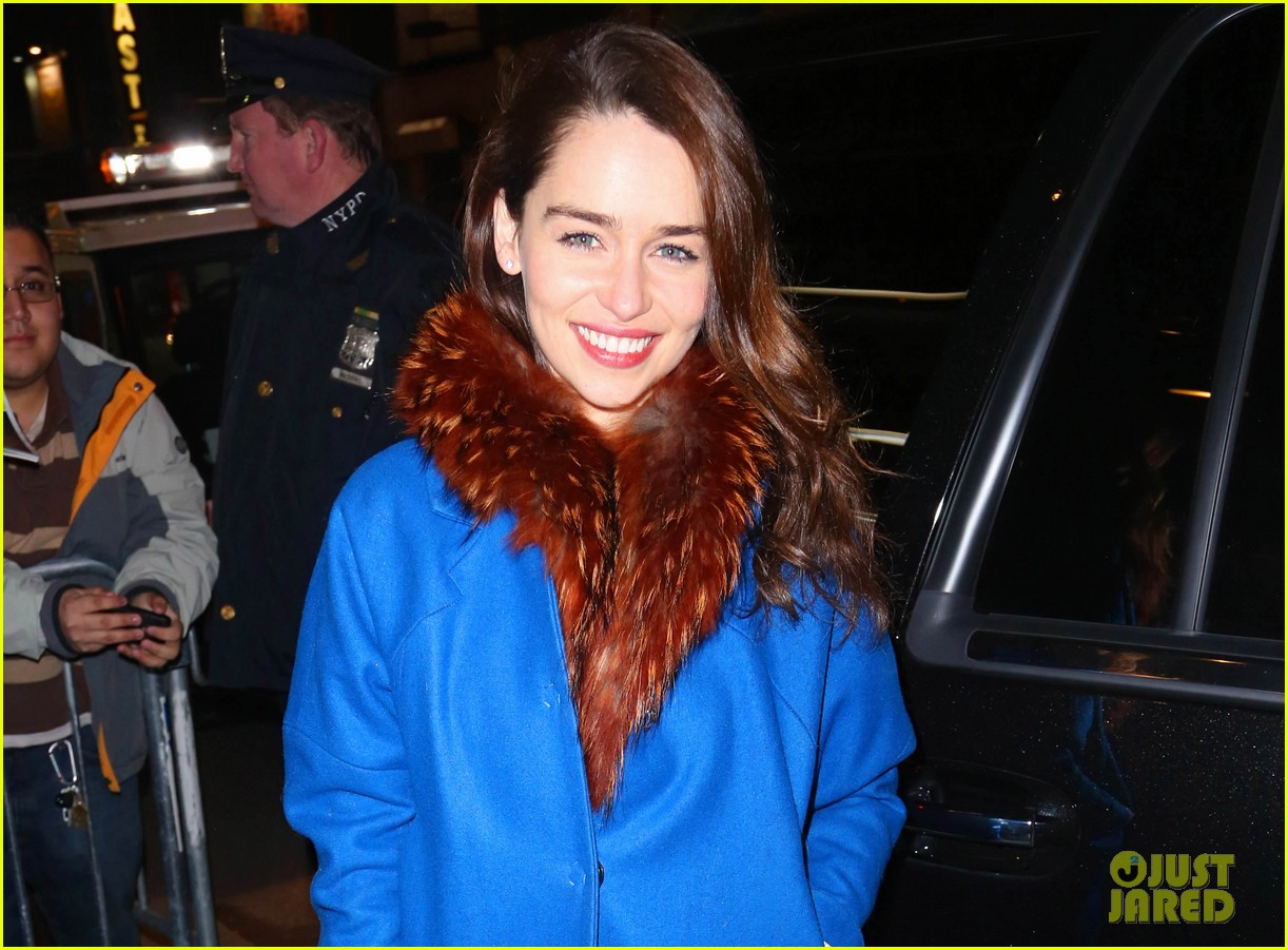emilia clarke breakfast at tiffanys first preview 012825510
