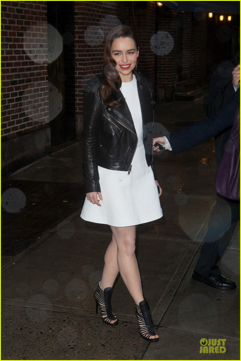 emilia clarke late show with david letterman taping 02