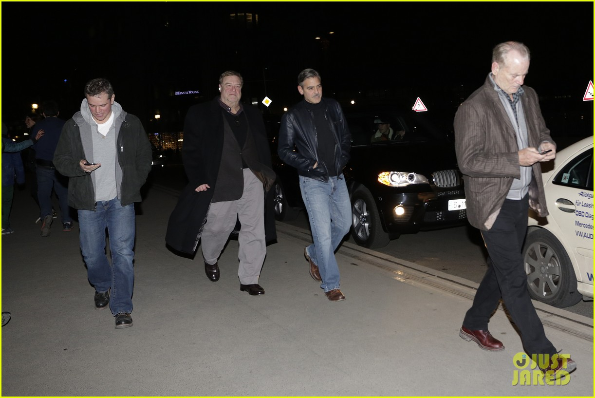 george clooney matt damon berlin buddies 032828915