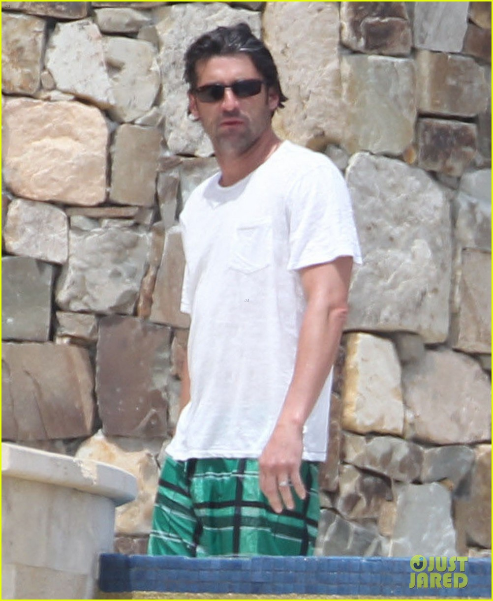 patrick dempsey shirtless family vacation in cabo 05