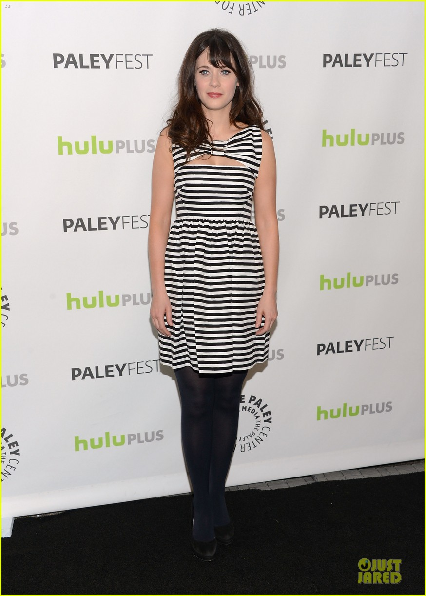 zooey deschanel paleyfest with new girl cast 01