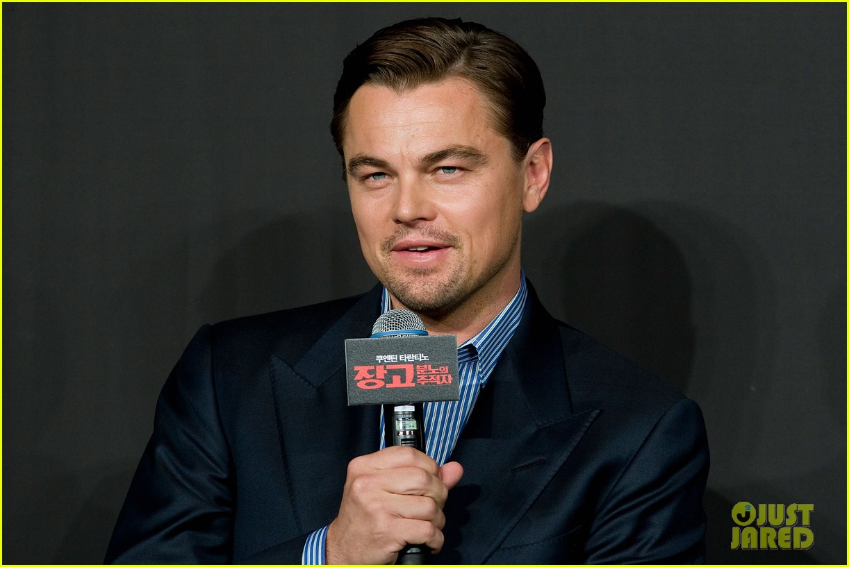 leonardo dicaprio django unchained seoul press conference 04