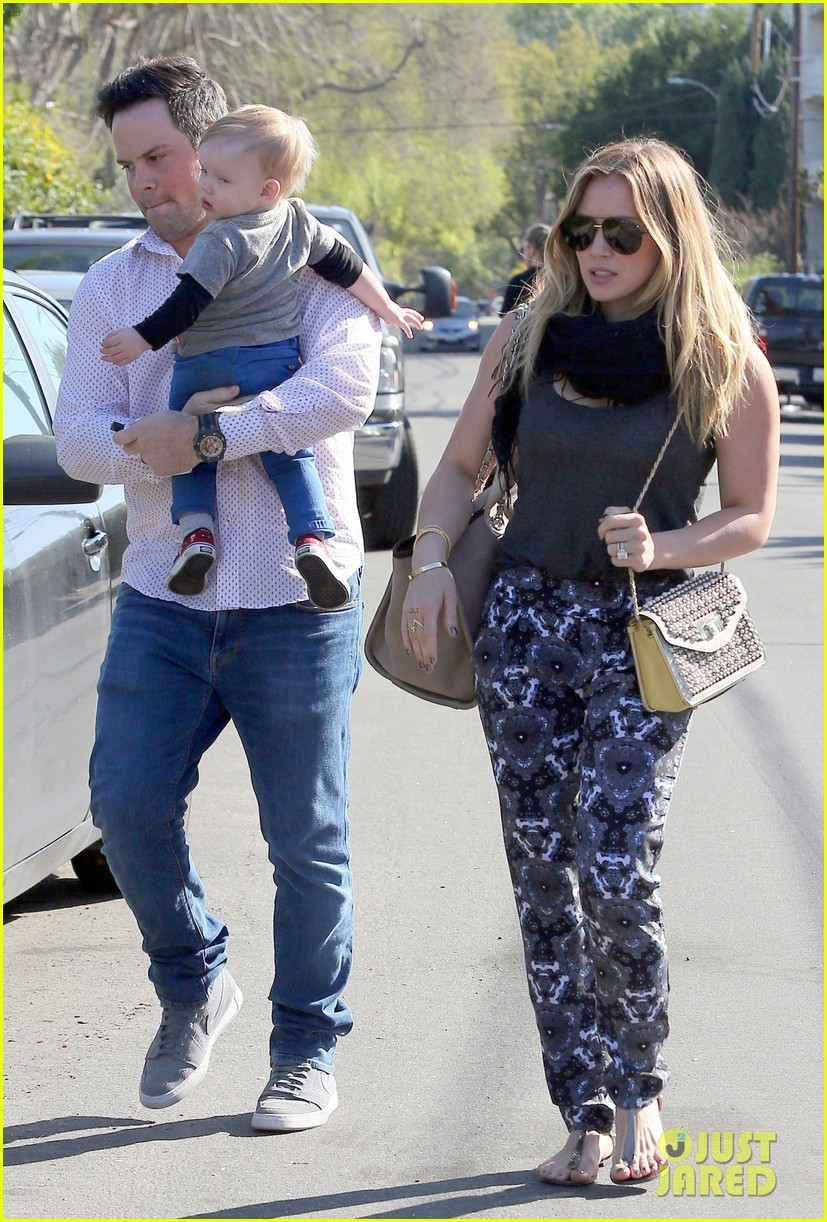 hilary duff family fun weekend with luca 072828944