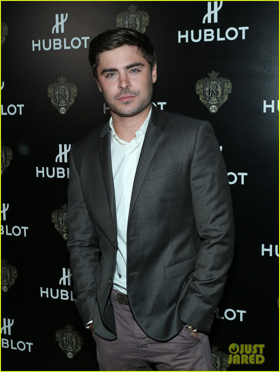 zac efron hublots new brand ambassador celebration 012835000