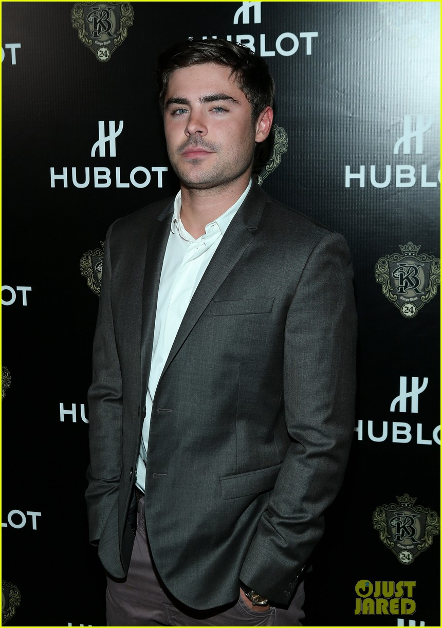 zac efron hublots new brand ambassador celebration 09