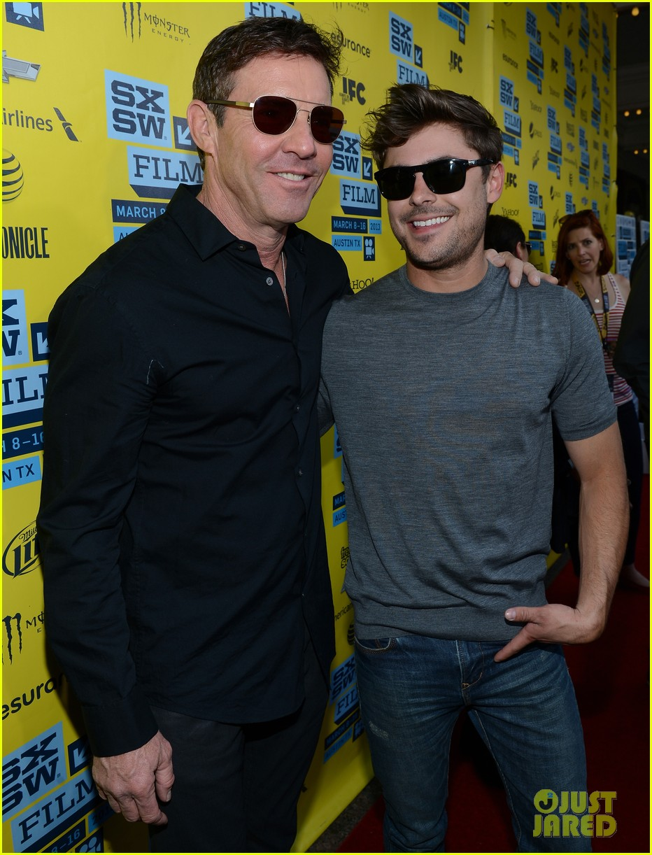 zac efron dennis quaid at any price sxsw premiere 142831799