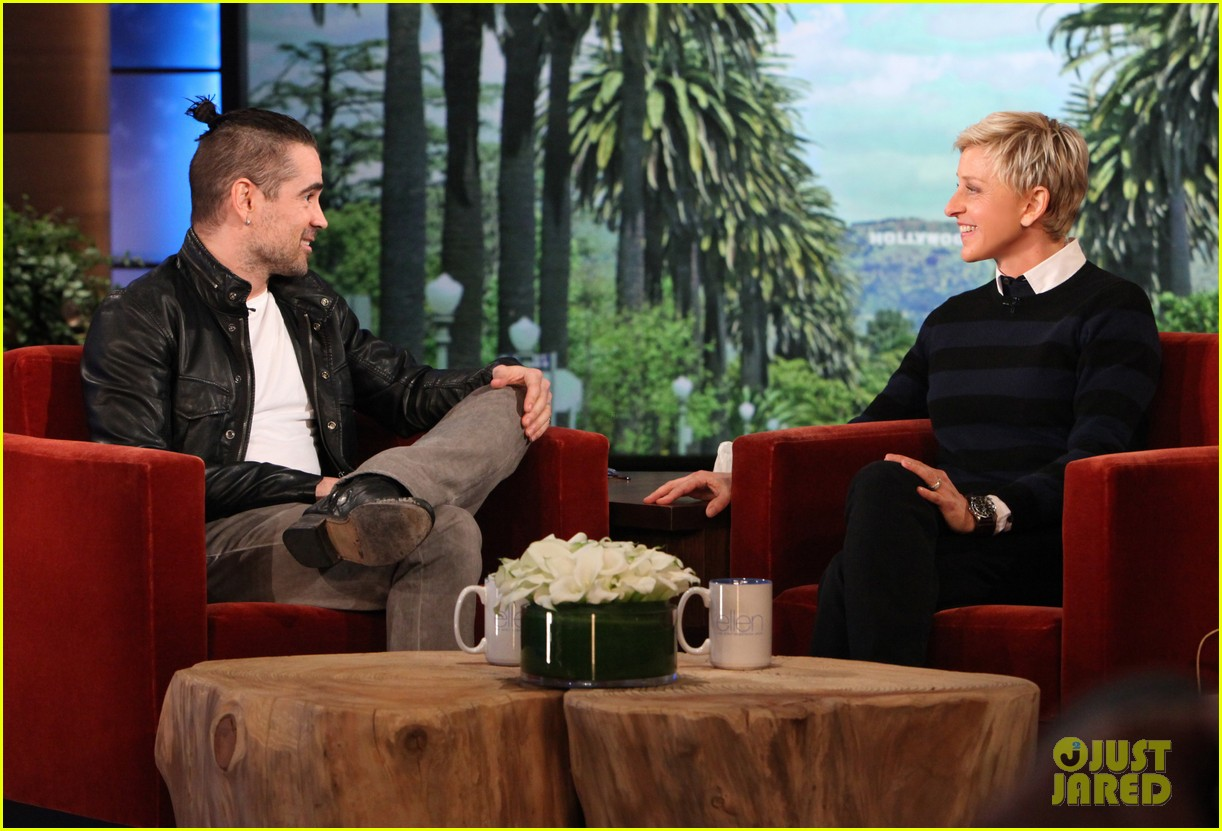 colin farrell wears revealing underwear on ellen 01