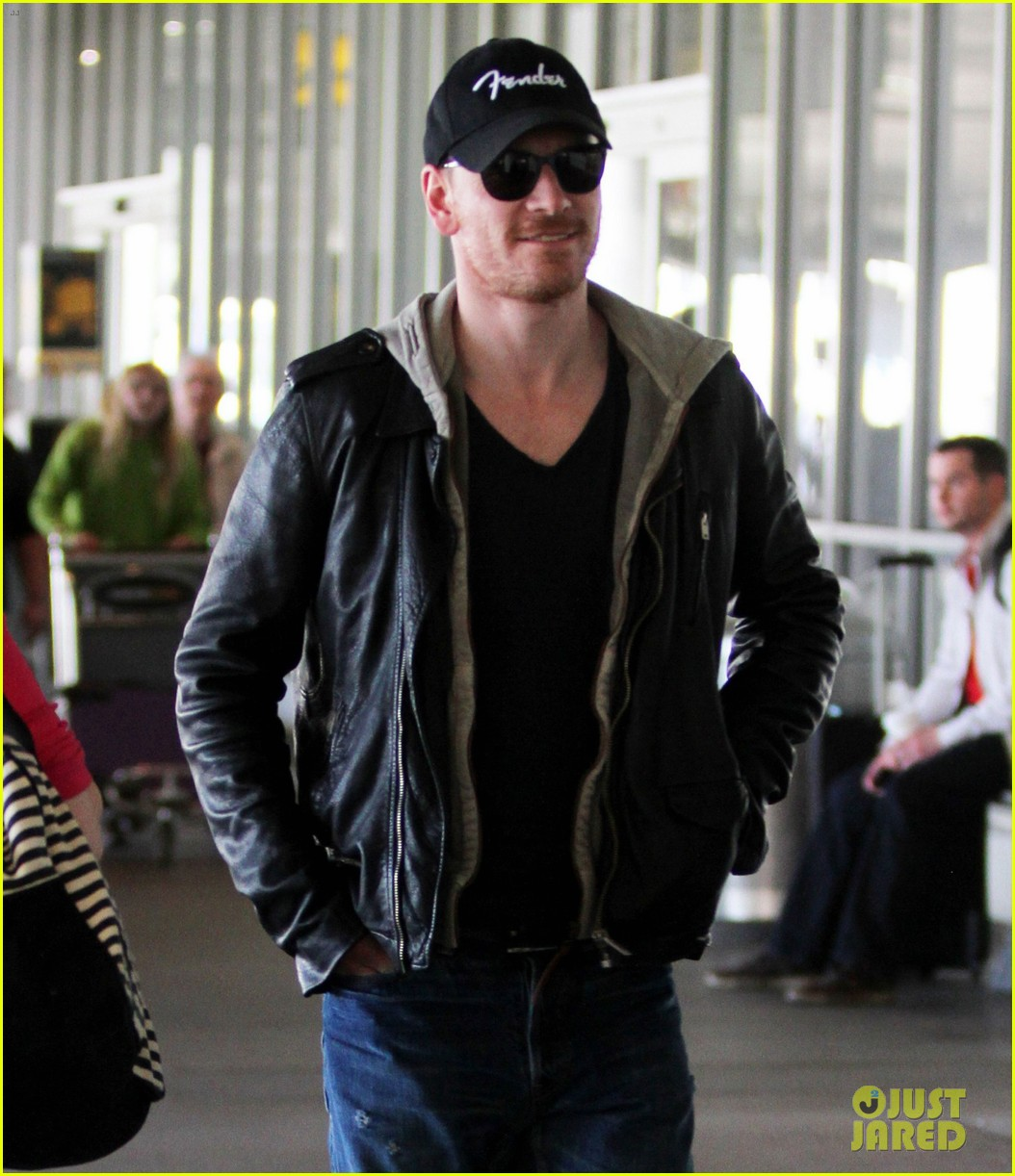 michael fassbender fender fellow at lax 02