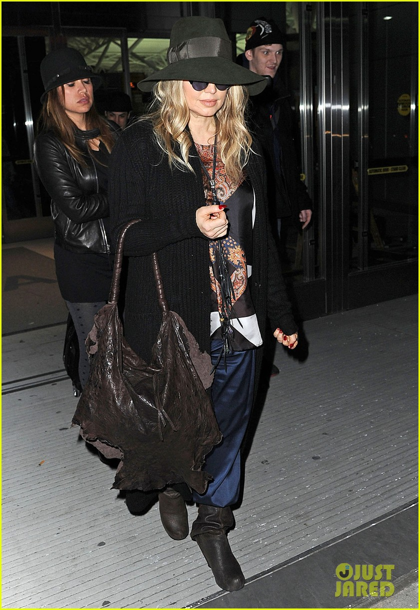 fergie nyc arrival for gma 092834953