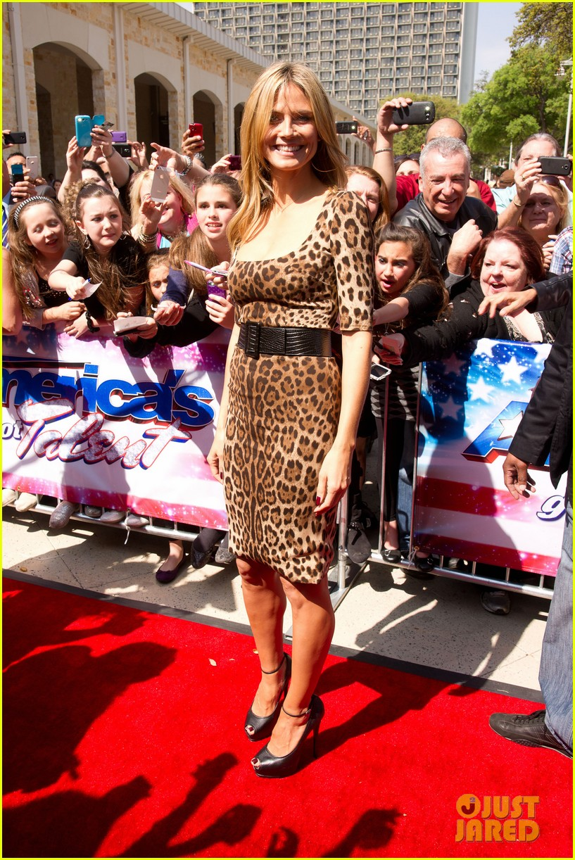 heidi klum mel b americas got talent texas auditions 05