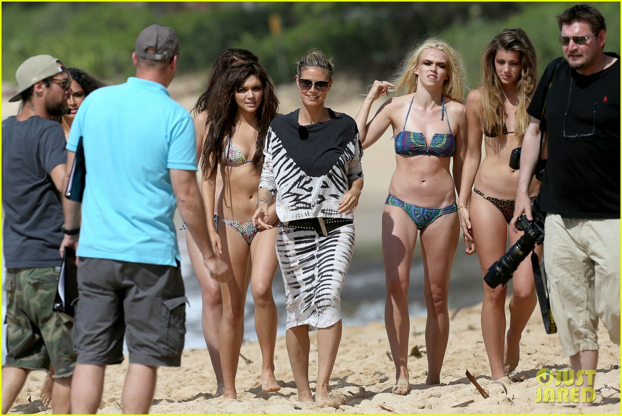 heidi klum germanys next top model filming 12
