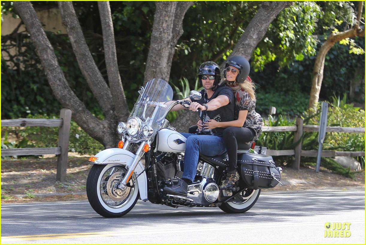 heidi klum martin kirsten brentwood motorcycle ride 312823849
