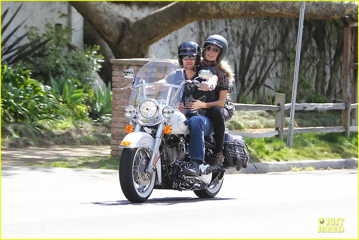 heidi klum martin kirsten brentwood motorcycle ride 322823850