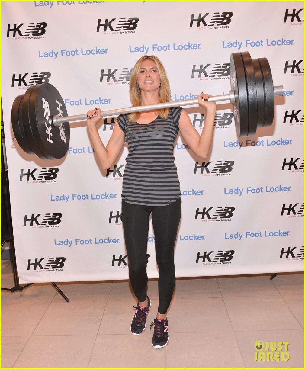 heidi klum new balance collection launch 032831029