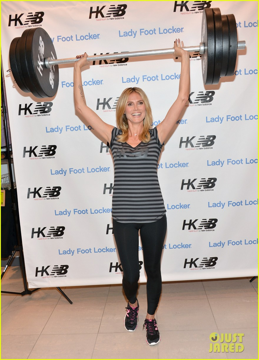 heidi klum new balance collection launch 172831044