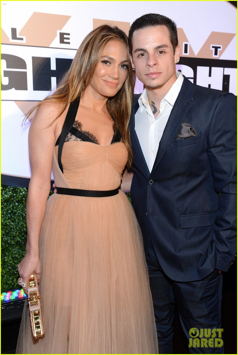 jennifer lopez celebrity fight night with casper smart 082836611