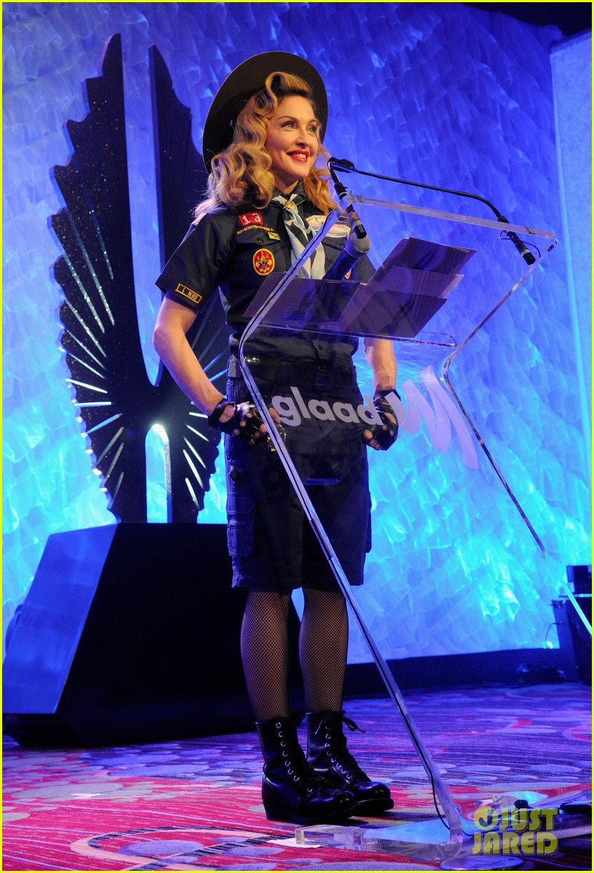 madonna boy scout costume at glaad media awards 2013 03