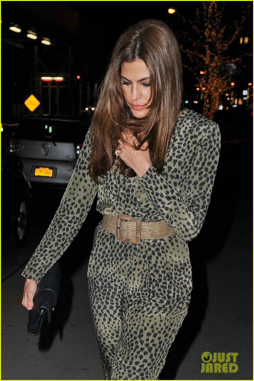 eva mendes leopard jumpsuit at private moma screening 12