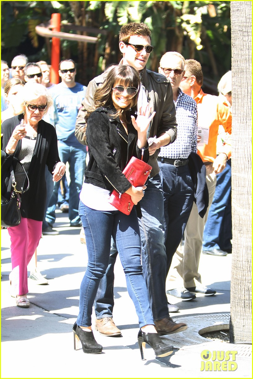lea michele cory monteith kings game couple 09