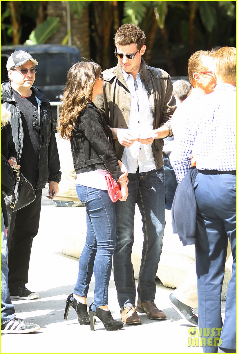 lea michele cory monteith kings game couple 132836379