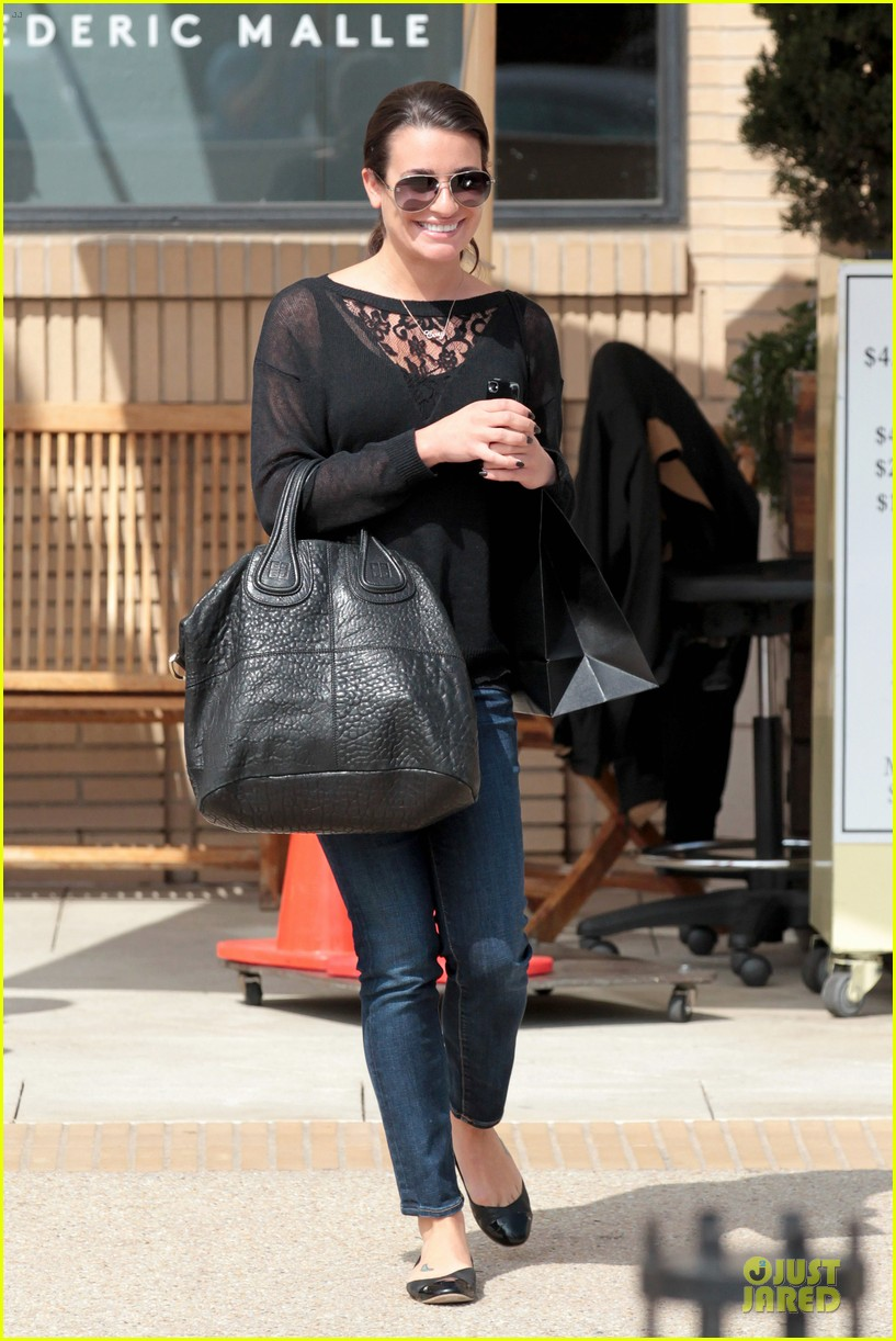 lea michele cory monteith necklace wearing gal 10