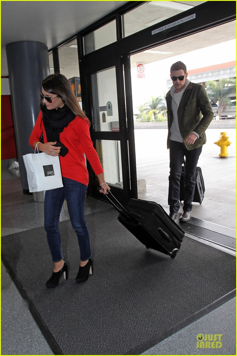 lea michele cory monteith new york flying couple 04