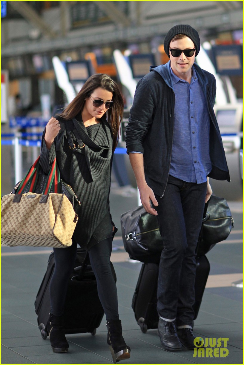 lea michele cory monteith from vancouver to l a 01