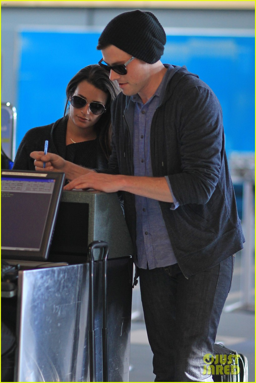 lea michele cory monteith from vancouver to l a 02