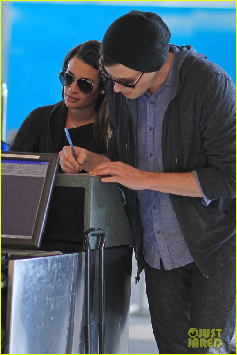 lea michele cory monteith from vancouver to l a 07
