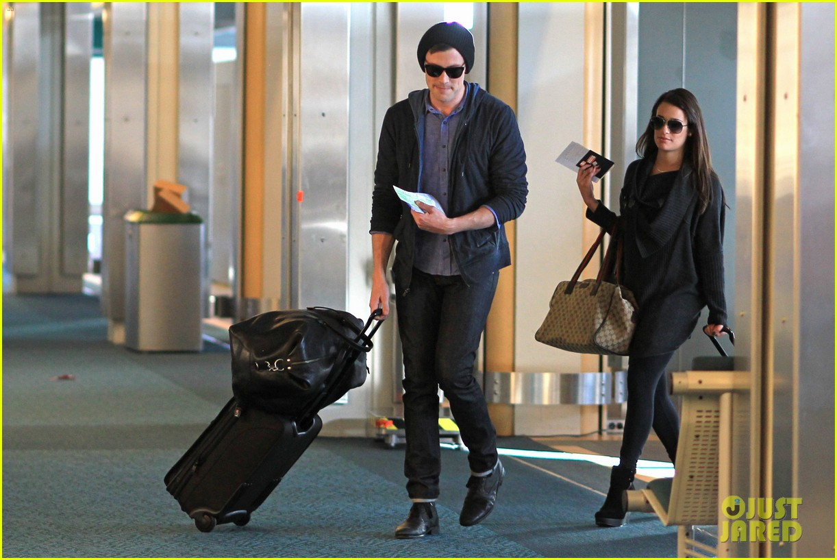 lea michele cory monteith from vancouver to l a 09