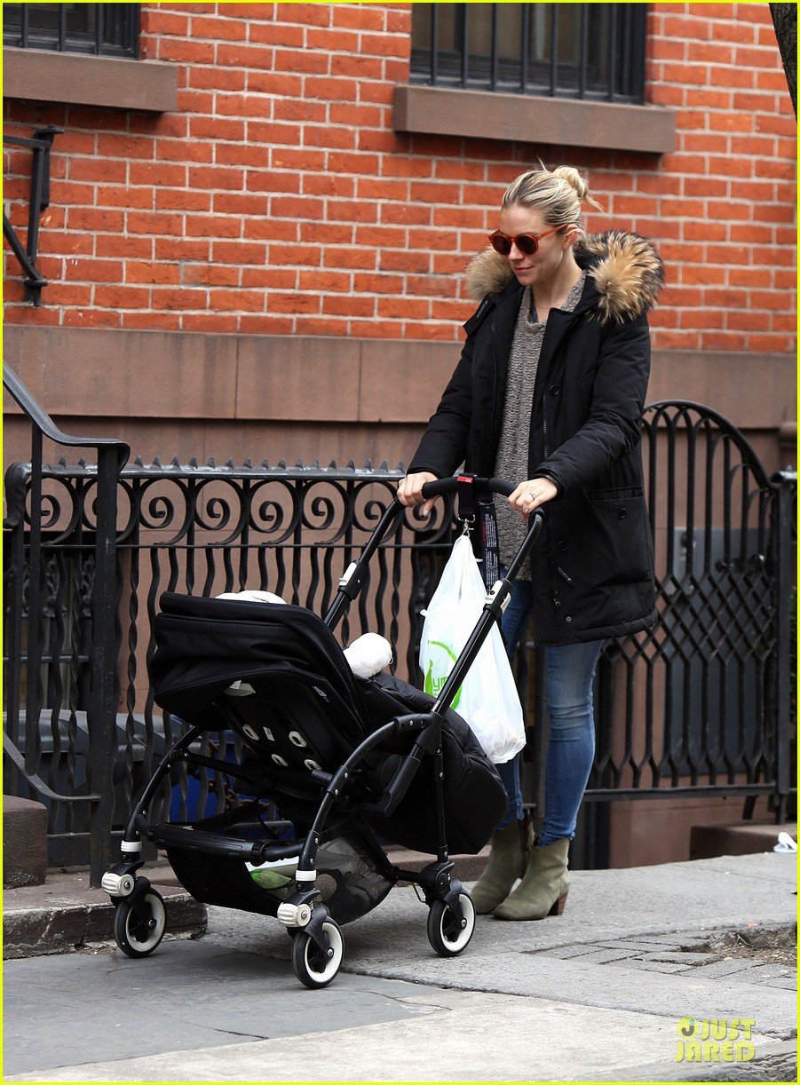 sienna miller stroller pushing with marlowe 032829735