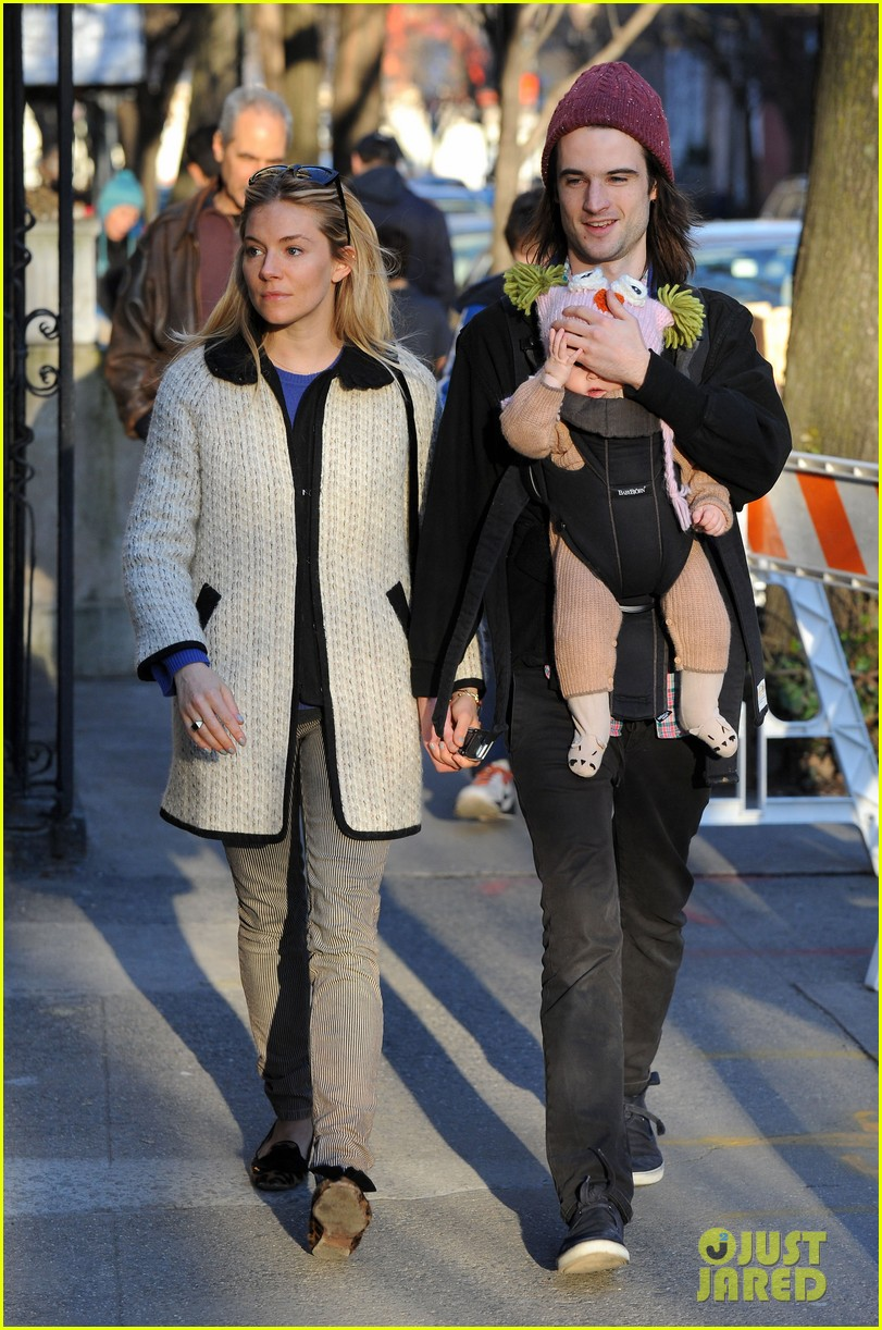 sienna miller tom sturridge west village walk with marlowe 102828356