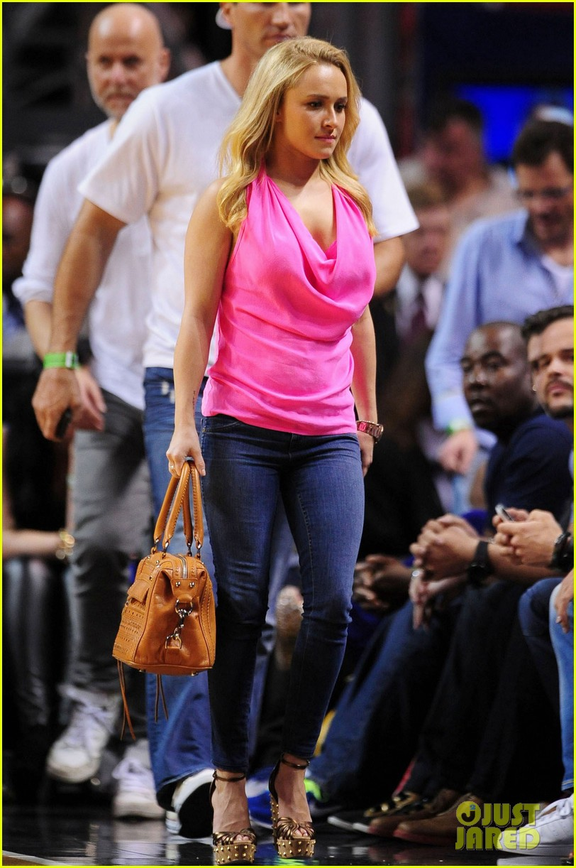 hayden panettiere miami heat game with wladimir klitschko 062837530