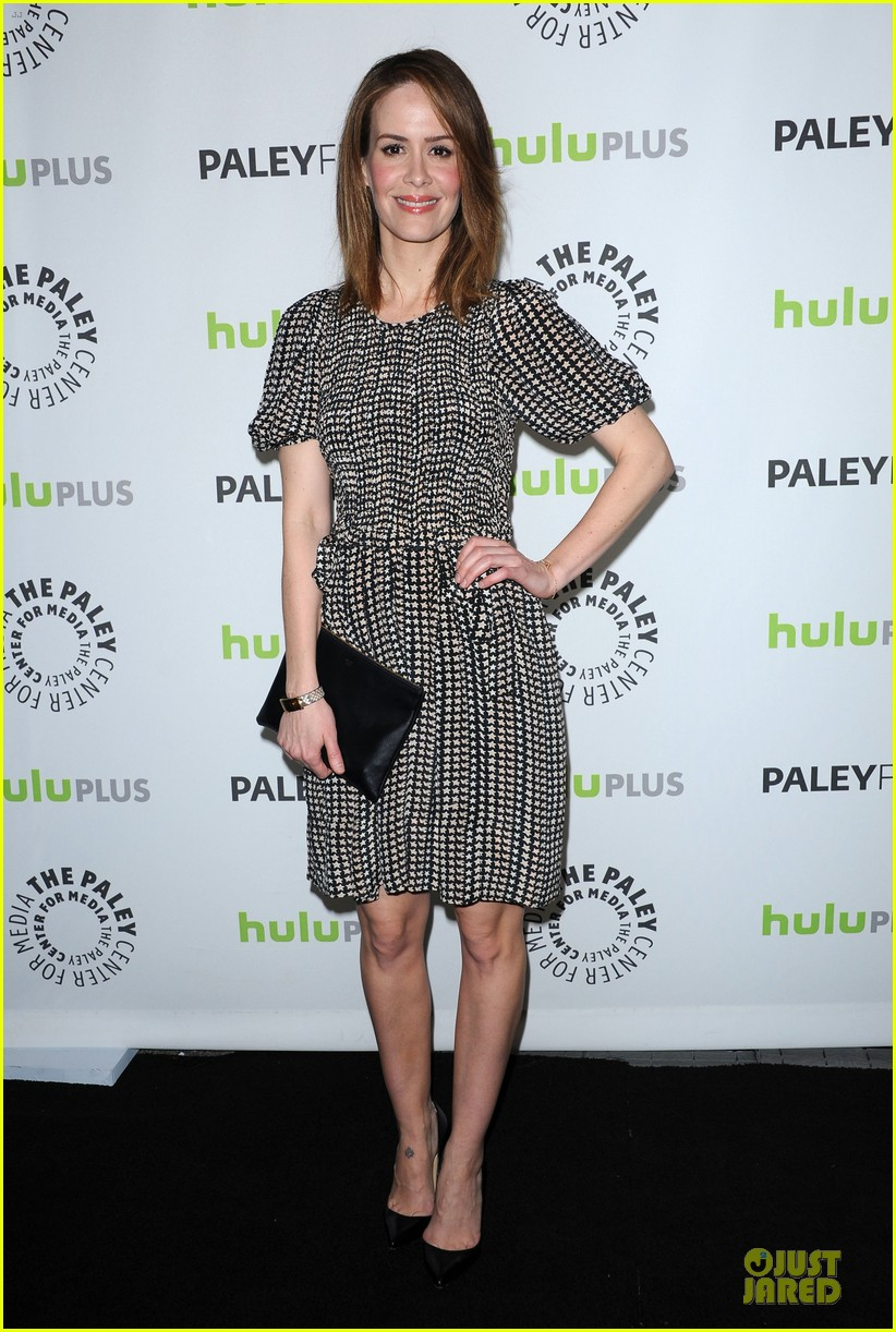 evan peters sarah paulson paleyfest with american horror story cast 012831567
