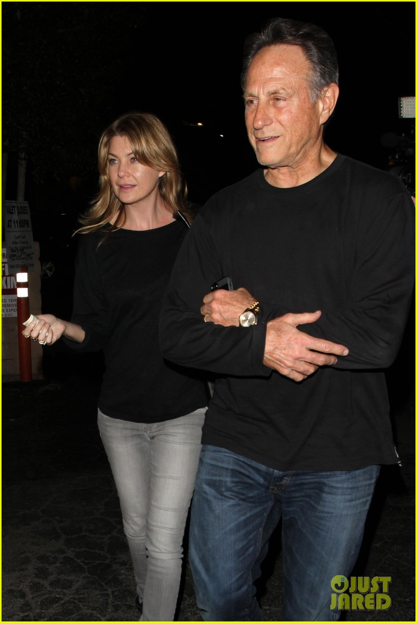 ellen pompeo chris ivery date night kisses 14