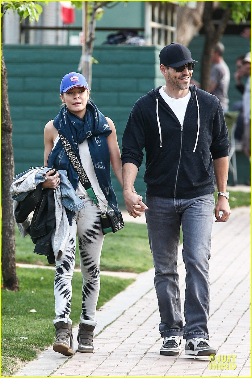 leann rimes eddie cibrian jake baseball game with brandi glanville 01