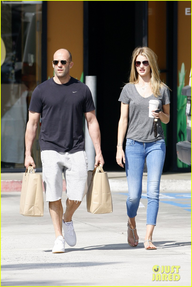 rosie huntington whiteley jason statham breakfast duo 01
