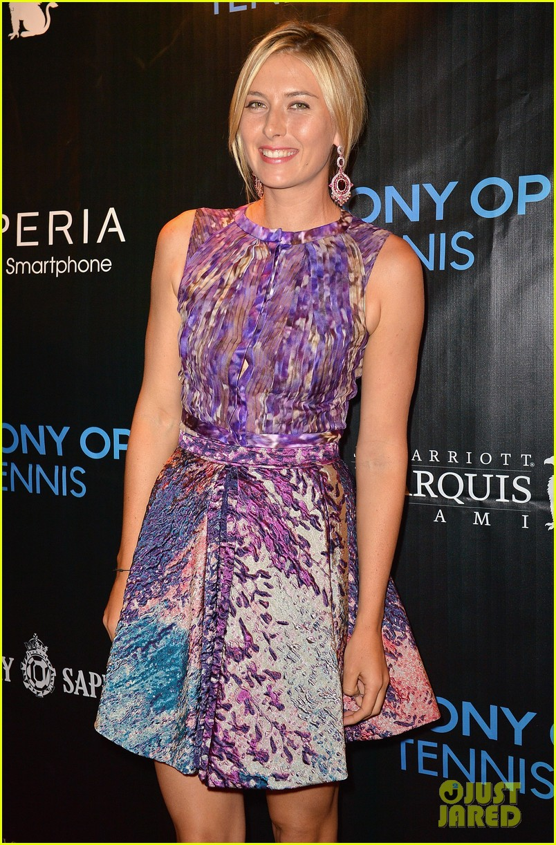 maria sharapova novak djokovic sony open player party 062834589