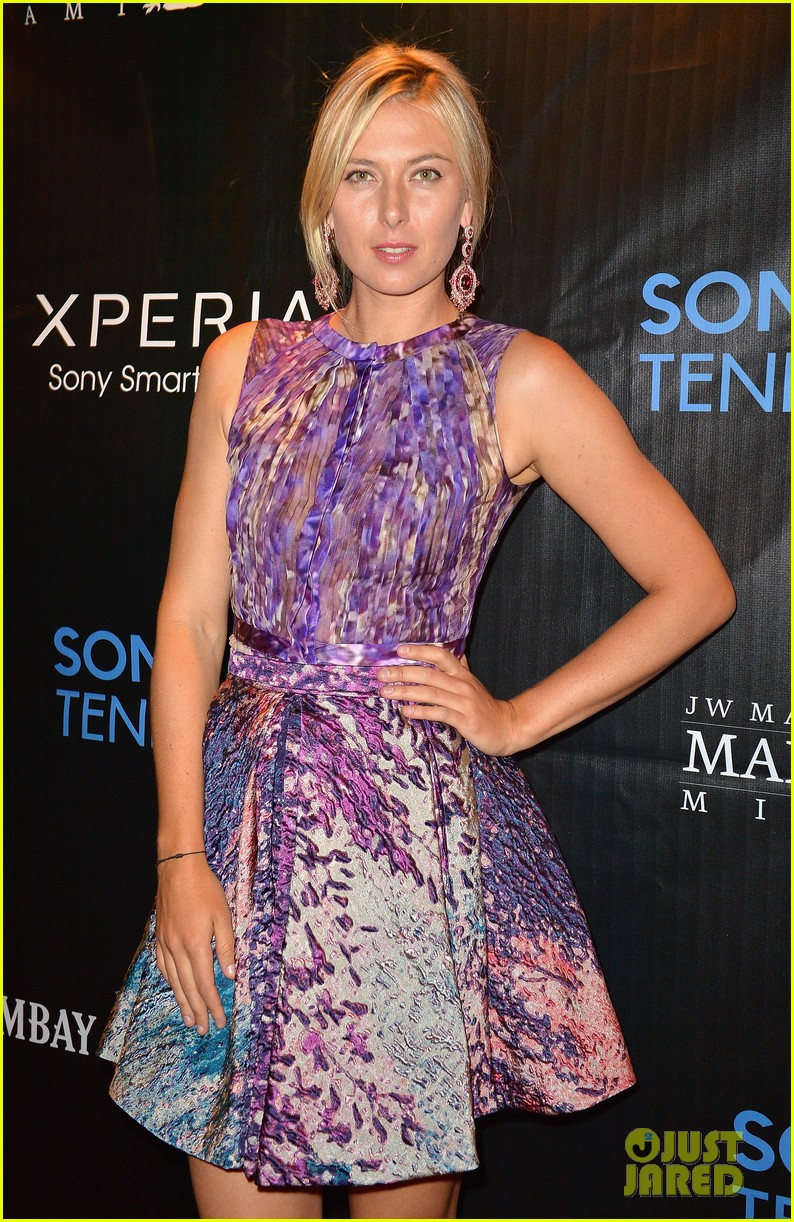 maria sharapova novak djokovic sony open player party 08