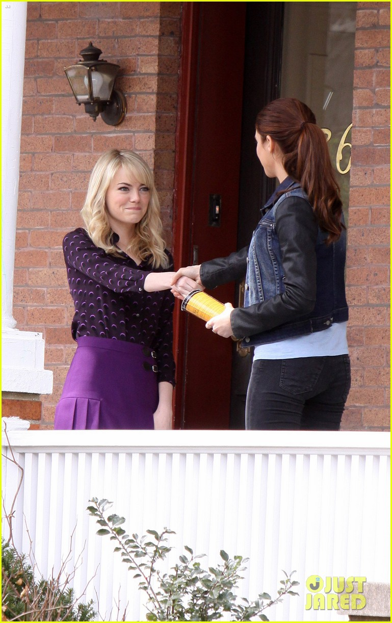 emma stone shailene woodley set meeting 20