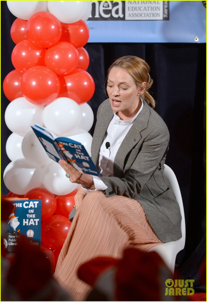 uma thurman cat in the hat for read across america day 17