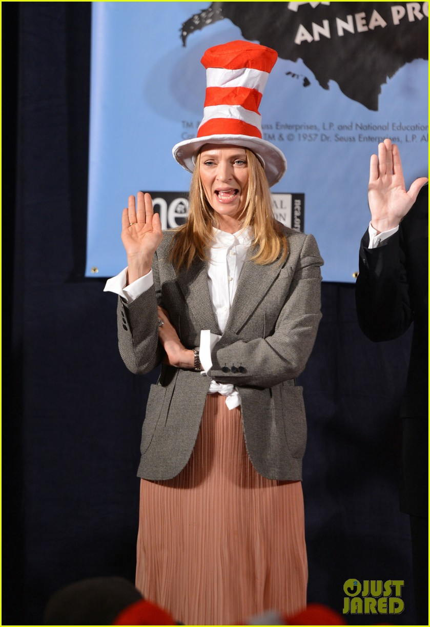 uma thurman cat in the hat for read across america day 192823514